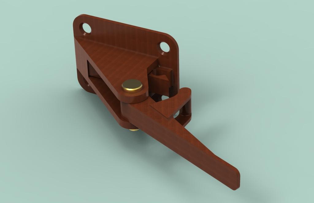 Cabinet Door Prop with Break Away Lock & Cabinet Door Prop with Break Away Lock :: Paper-to-Parts™
